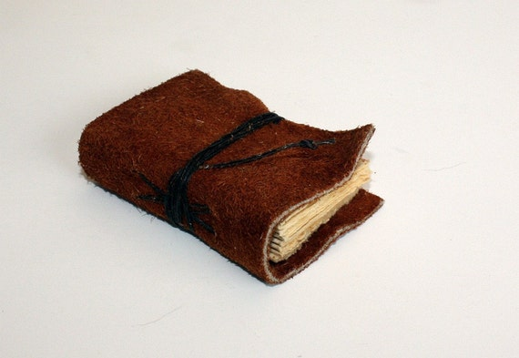 Small Hand Bound Leather Journal in Brown
