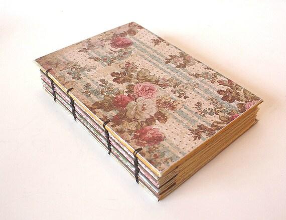 Romantic Floral Coptic Bound Journal