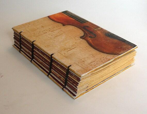 Violin Coptic Bound Journal