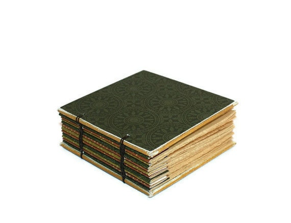 Forest Green Small Coptic Bound Journal