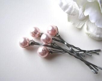 Light Pink Hair Pin Pearls