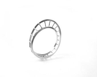 sterling silver unusual mobius ring