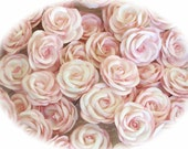 50 Large pale pink Mulberry Paper Roses, flowers, Chandelier shades, lamp shades, craft