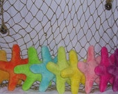 Starfish minky dot plush toy