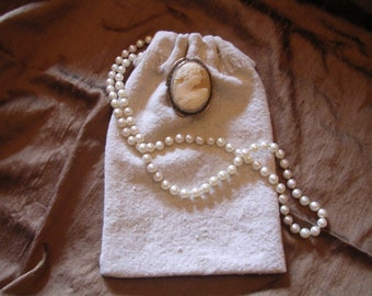 Wedding Favor Bags Osnaburg natural cotton muslin fringed drawstring  4 x 6 or larger will make to order