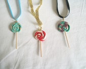 Kawaii Christmas Lollipop Necklaces