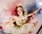 Vintage Ballerina Print from AllieEtCie