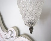 Light Shade Globes Hollywood Regency Cut Glass Pair from AllieEtCie