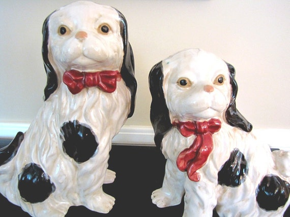 Dogs Vintage Staffordshire Spaniels from AllieEtCie