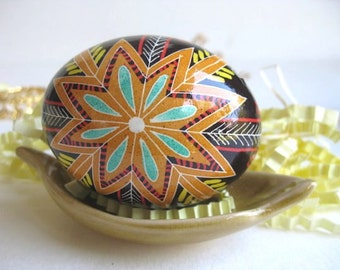 Pysanka Ukrainian Easter egg with starburst traditional gits for holidays and special occasions all year around home decor spiritual gifts