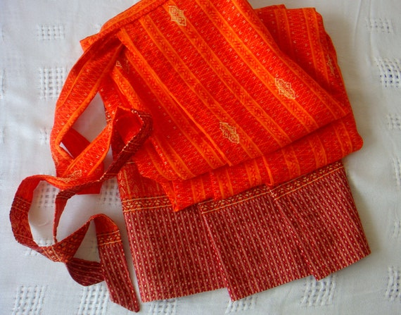 Orange Wrap around skirt