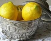 decorative vintage pot/jar with floral design and lid