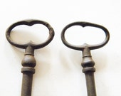 two antique french keys
