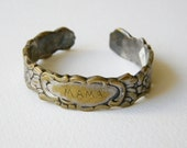 vintage silver plated serviette napkin ring engraved Mama