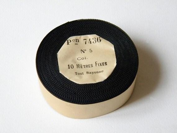 french grosgrain ribbon black