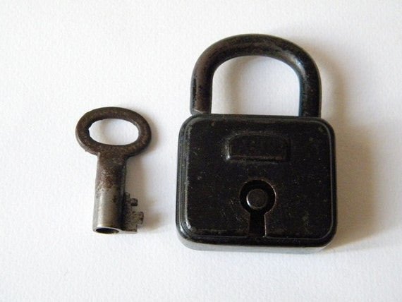 vintage french lock and key