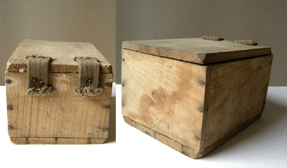 french antique small wooden storage box