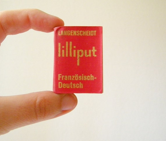 vintage TINY dictionary french german translation