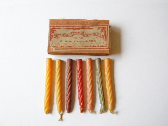 vintage french christmas candles