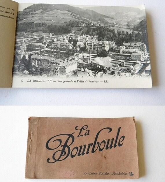 vintage french postcard book