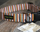 "Dog Collar Striped, Dog Collar, Modern Dog Collars, Boy Dog Collar, Girl Dog Collar, Fall Dog Collar, Autumn Dog Collar, ""The Ashton"""
