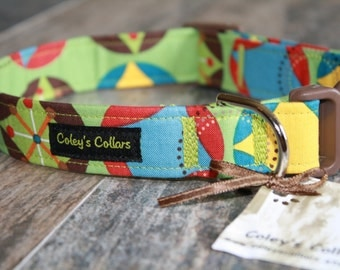"Dog Collar ""Blast From the Past in Green"""