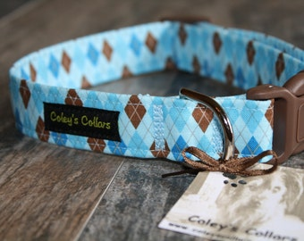 "Dog Collar ""The Bookworm in Blue"""