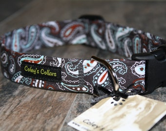 "Dog Collar ""The Preppy Puppy Paisley"""