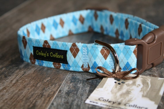 """Dog Collar """"The Bookworm in Blue"""""""