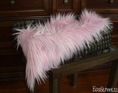 "Pink Fur, Pink Mongolian Fur, Newborn Baby Girl Mongolian 3"" Faux Fur Blanket, Newborn Props, Long Pile Fur, Baby Props, Basket Filler, Girl"