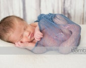 Hand Dyed Denim Blue Cheese Cloth Newborn Baby Boy  Cocoon Wrap, Great for Photo Prop