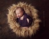 Fur Prop, Mongolian Fur, Baby Boy Fur, Caramel Mongolian Faux Fur Piece, Great for photo prop