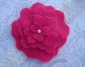 Pink Peony Felt Flower Headband