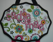 Personalized Flower Hairbow Holder