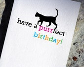 Cat Birthday Card Cute Birthday Card