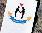 Gay Wedding Card Congratulations