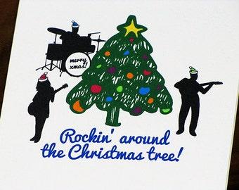 Christmas Card Rockin Around the Christmas Tree