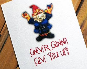 Funny Valentine Card I Love You Gnome