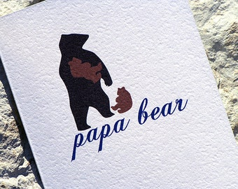 Fathers Day Card Papa Bear