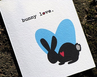 Cute Easter Card - Bunny Love