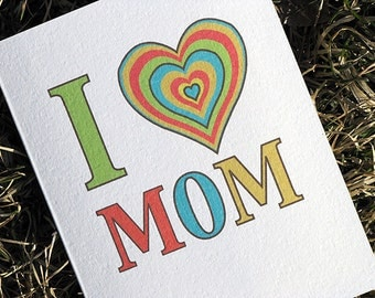 Cute Mothers Day Card I Love You Mom