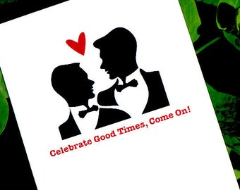 gay wedding card celebration