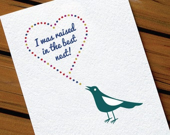 Cute Birthday Card For Mom Best Nest Bird Card