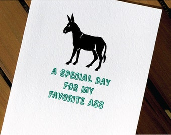 Donkey Funny Birthday Card