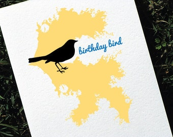 Cute Birthday Card - Birthday Bird