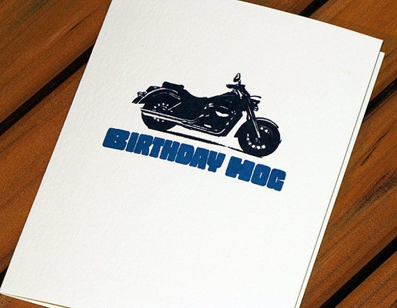 Birthday Hog Funny Birthday Card Motorcycle Card