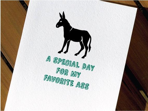 Donkey Funny Birthday Card – Donkey Birthday Card