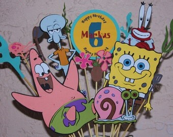 Spongebob Birthday Party Centerpiece