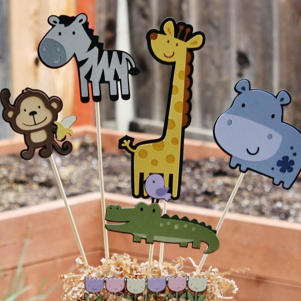 Safari Jungle Animal Themed Party Centerpiece