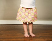 Baby, toddler, girls skirt for spring... 12months, 18months, 2t, 3t, 4t, 5t... Lovely Lotus Blossom